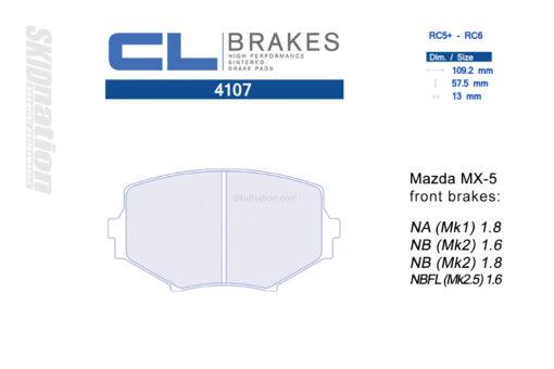 4107RC5+ / RC6 CL Brakes Mazda MX-5 Miata