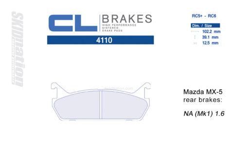 4110RC5+ / RC6 CL Brakes Mazda MX-5 Miata