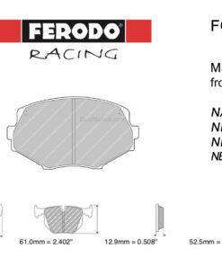 Ferodo DS2500 FCP1011H front MX-5 pads