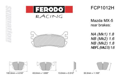 Ferodo DS2500 FCP1012H rear MX-5 pads
