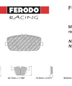 Ferodo DS2500 FCP1894H rear MX-5 pads