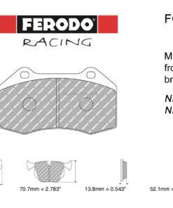 Ferodo DS2500 FCP4821H front MX-5 pads