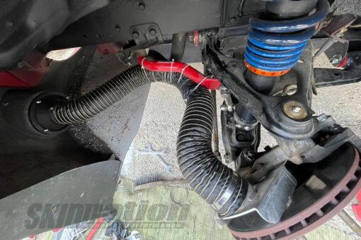 Mazda MX-5 brake duct installed top