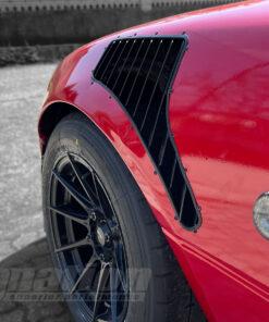 Mazda MX-5 fender vents installed BW