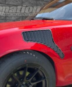 Mazda MX-5 fender vents installed BW side
