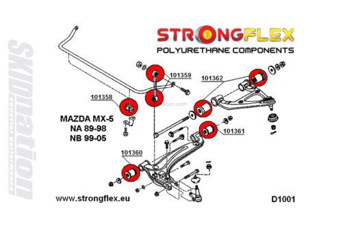 Mazda MX-5 Miata NA front suspension polyurethane bushings