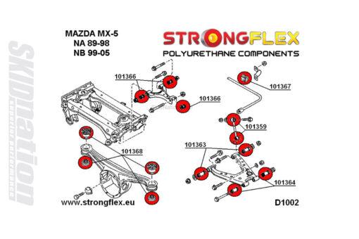 Mazda MX-5 Miata NA rear suspension polyurethane bushings