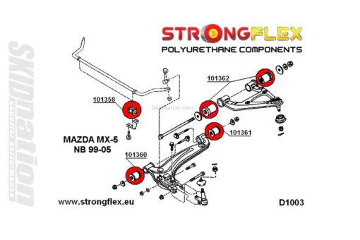 Mazda MX-5 Miata NB front suspension polyuretahne bushings v2