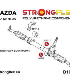 Mazda MX-5 Miata steering rack polyurethane bushing pair 1