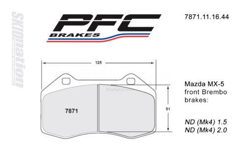 PFC 7871 front Brembo brake pads Mazda MX-5 Miata