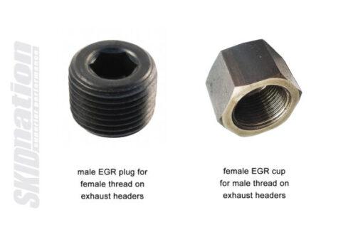 Mazda MX-5 egr exhaust headers plug cup