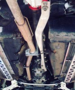 Mazda MX-5 frame rails braces installed